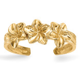 Flowers Toe Ring 14k Gold Polished MPN: R570