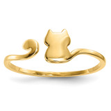 Cat Adjustable Cuff Ring 14k Gold Polished MPN: R639