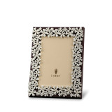 L'Objet Garland Picture Frames 4 X 6 Inch Picture Frame - Platinum White Crystals MPN: F7000S