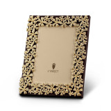 L'Objet Garland Picture Frames 5 X 7 Inch Picture Frame - Gold Yellow Crystals MPN: F7001M