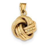 Textured Love Knot Pendant 14k Gold Polished MPN: SF2478