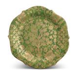 L'Objet Fortuny Round Platter Alberelli Green MPN: LPF29