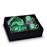 L'Objet Malachite Tea Cup Saucer Gift Box of 2 MPN: ML753