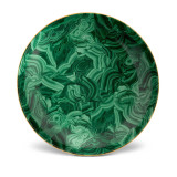 L'Objet Malachite Round Platter 18 Inch MPN: ML766