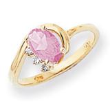 Pink Sapphire Diamond Ring 14k Gold 7x5mm Oval MPN: X6088SP/A UPC: 883957490427