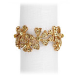 L'Objet Napkin Jewels Garland Gold Yellow Crystals  Napkin Jewels MPN: NJ7001