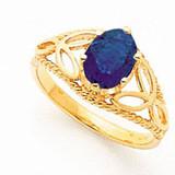 Sapphire Ring 14k Gold 8x6mm Oval MPN: X6102S UPC: 883957533827
