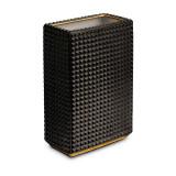 L'Objet Bibliotheque Black Gold Vase 6 x 3.5 x 9 Inch MPN: DAC412
