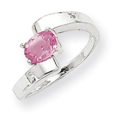 Pink Sapphire Ring 14k white Gold 7x5mm Oval MPN: X9664SP UPC: 883957376639