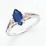 8x4mm Marquise Sapphire Diamond Ring 14k white Gold MPN: X9671S/A UPC: 883957377865
