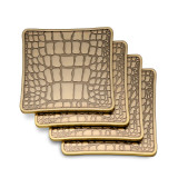 L'Objet Crocodile Set of Four Coasters