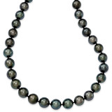 10-12mm Off-round Black Tahitian Cultured Pearl Grad. Neck 14k white Gold MPN: XF464-19