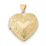 18mm Heart Locket 14k Gold MPN: XL686 UPC: 191101360923