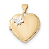 18mm Heart with Butterfly Locket 14k Two-Tone Gold MPN: XL689 UPC: 191101079672