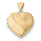 15mm Reversible Diamond Heart Locket 14k Two-Tone Gold MPN: XL691 UPC: 191101368127