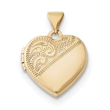 15mm Heart Locket 14k Gold MPN: XL694 UPC: 191101364174