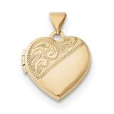 15mm Heart Locket 14k Gold MPN: XL694 UPC: 191101364174