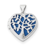 18mm Heart with Tree Locket 14k white Gold MPN: XL695 UPC: 191101079689