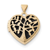 18mm Heart with Tree Locket 14k Gold MPN: XL696 UPC: 191101455056