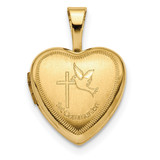 12mm 1st Communion Heart Locket 14k Gold MPN: XL710