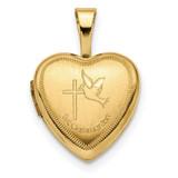 12mm 1st Communion Heart Locket 14k Gold MPN: XL710