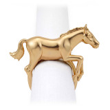 L'Objet Horse Horse Napkin Jewels  - Gold MPN: NJ3701
