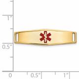 Epoxy Enameled Medical ID Ctr Soft Diamond Shape Plate # 816 14k Gold XM639