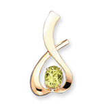10x8mm Oval Peridot Checker slide 14k Gold MPN: XS171PC UPC: 883957212982