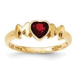 Garnet MOM Ring 14k Gold MPN: Y12926GA