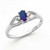 Sapphire Diamond Ring 14k white Gold 5x3mm Oval MPN: Y2080S/A UPC: 883957705361