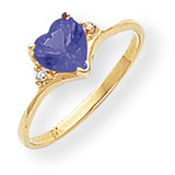 6mm Heart Sapphire Diamond Ring 14k Gold MPN: Y2185S/A UPC: 883957651750