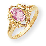 Pink Sapphire Ring 14k Gold 7x5mm Oval MPN: Y2227SP UPC: 883957543949