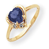 6mm Heart Sapphire Diamond Ring 14k Gold MPN: Y2233S/A UPC: 883957538389