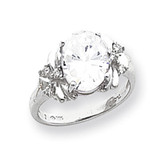 10x8mm Oval Cubic Zirconia Diamond Ring 14k white Gold MPN: Y2240CZ/A UPC: 883957618272