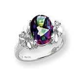 10x8mm Oval Fire Topaz Diamond Ring 14k white Gold MPN: Y2240FT/A UPC: 883957618319