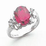 10x8mm Oval Rhodolite Garnet Diamond Ring 14k white Gold MPN: Y2240RG/A UPC: 883957618548