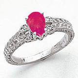 7x5mm Pear Pink Tourmaline Diamond Ring 14k white Gold MPN: Y2267PT/A UPC: 883957624495