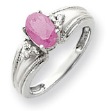 Pink Tourmaline Diamond Ring 14k white Gold 7x5mm Oval MPN: Y4450PT/A UPC: 883957395234