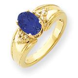 Sapphire Diamond Ring 14k Gold 8x6mm Oval MPN: Y4452S/A UPC: 883957389875