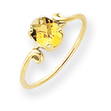 Citrine Checker Ring 14k Gold 7x5mm Oval MPN: Y4663CC UPC: 883957562438