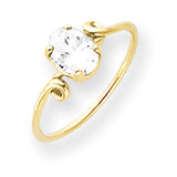 Cubic Zirconia Ring 14k Gold 7x5mm Oval MPN: Y4663CZ UPC: 883957562612