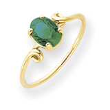 Emerald Ring 14k Gold 7x5mm Oval MPN: Y4663E UPC: 883957562674