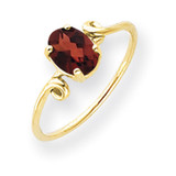 Garnet Ring 14k Gold 7x5mm Oval MPN: Y4663GA UPC: 883957562780