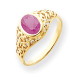Pink Sapphire Ring 14k Gold 7x5mm Oval MPN: Y4673SP UPC: 883957584805