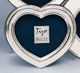 Tizo Heart Bead 2 x 3 Inch Sterling Silver Picture Frame
