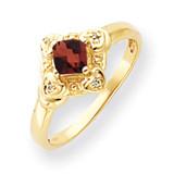 4mm Princess Cut Garnet Diamond Ring 14k Gold MPN: Y4701GA/A UPC: 883957581095