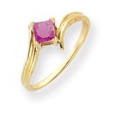 Pink Sapphire Ring 14k Gold 4mm Princess Cut MPN: Y4781SP UPC: 883957663210