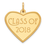 Class of 2018 Heart Charm 14k Gold MPN: YC1272
