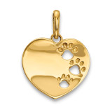 Childrens Heart with Pawprints Pendant 14k Gold MPN: YC1293