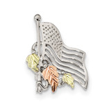 Accents American Flag Pin 12k Gold Sterling Silver MPN: QBH266, UPC: 784715405823